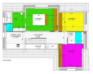 Plan étage maison
